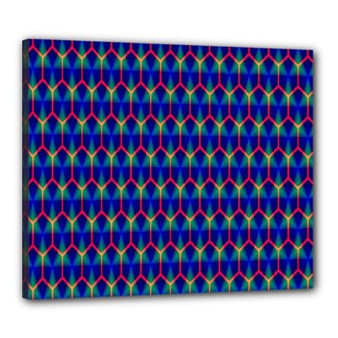Honeycomb Fractal Art Canvas 24  X 20