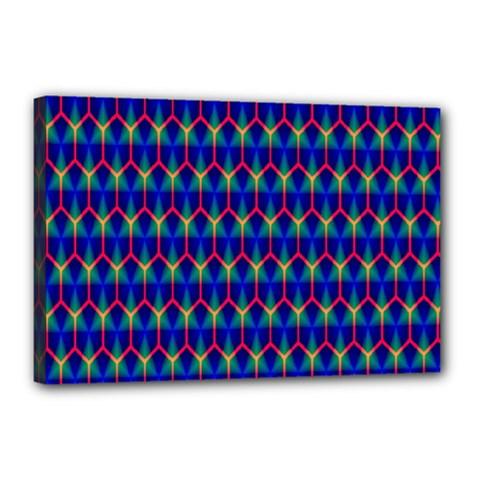 Honeycomb Fractal Art Canvas 18  X 12