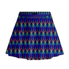 Honeycomb Fractal Art Mini Flare Skirt