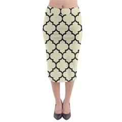 TIL1 BK-MRBL BG-LIN (R) Midi Pencil Skirt