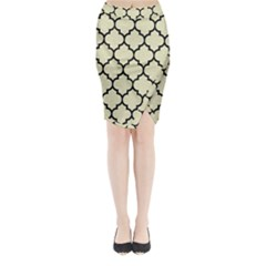 TIL1 BK-MRBL BG-LIN (R) Midi Wrap Pencil Skirt