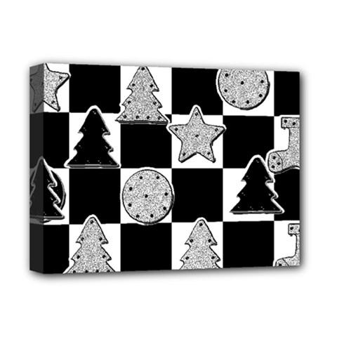Xmas Checker Deluxe Canvas 16  x 12