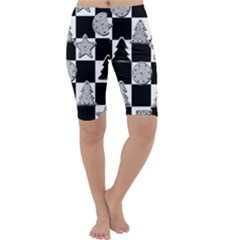 Xmas Checker Cropped Leggings