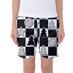 Xmas Checker Women s Basketball Shorts