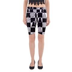 Xmas Checker Yoga Cropped Leggings