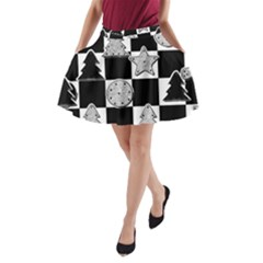 Xmas Checker A-Line Pocket Skirt