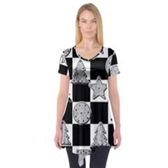 Xmas Checker Short Sleeve Tunic