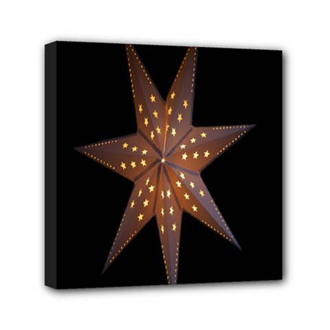 Star Light Decoration Atmosphere Mini Canvas 6  x 6