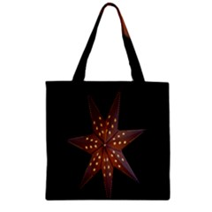 Star Light Decoration Atmosphere Zipper Grocery Tote Bag