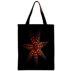 Star Light Decoration Atmosphere Zipper Classic Tote Bag