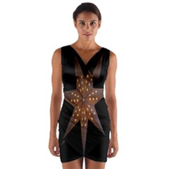 Star Light Decoration Atmosphere Wrap Front Bodycon Dress