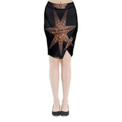 Star Light Decoration Atmosphere Midi Wrap Pencil Skirt