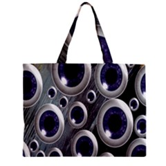 Eyeballs Pattern Zipper Mini Tote Bag