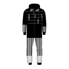 Piano Keyboard With Notes Vector Hooded Jumpsuit (Kids)
