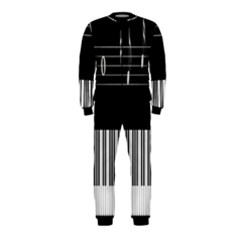 Piano Keyboard With Notes Vector OnePiece Jumpsuit (Kids)