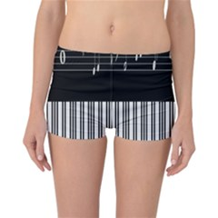 Piano Keyboard With Notes Vector Reversible Bikini Bottoms
