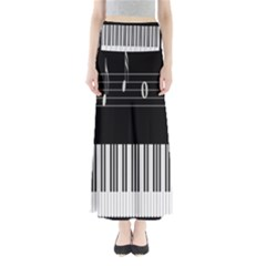 Piano Keyboard With Notes Vector Maxi Skirts