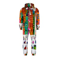 Painted Autos City Skyscrapers Hooded Jumpsuit (Kids)