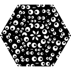 Seamless Eyes Tile Pattern Mini Folding Umbrellas
