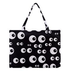 Seamless Eyes Tile Pattern Medium Tote Bag