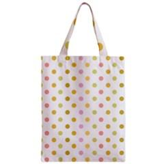 Polka Dots Retro Zipper Classic Tote Bag