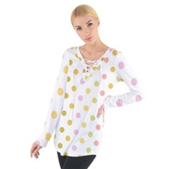 Polka Dots Retro Women s Tie Up Tee