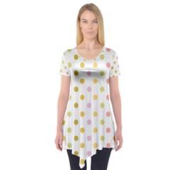 Polka Dots Retro Short Sleeve Tunic
