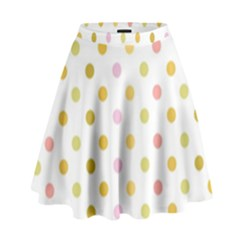 Polka Dots Retro High Waist Skirt