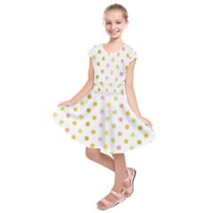 Polka Dots Retro Kids  Short Sleeve Dress