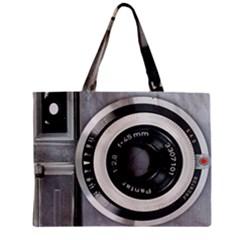 Vintage Camera Zipper Mini Tote Bag