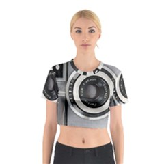Vintage Camera Cotton Crop Top