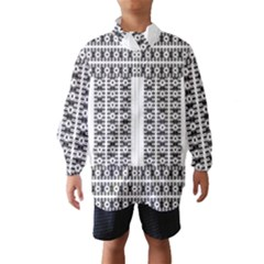Pattern Background Texture Black Wind Breaker (Kids)