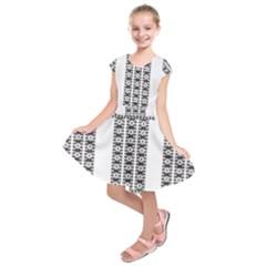 Pattern Background Texture Black Kids  Short Sleeve Dress