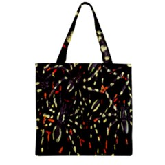 Spiders Background Zipper Grocery Tote Bag