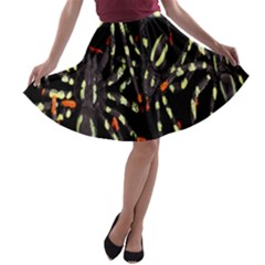 Spiders Background A Line Skater Skirt