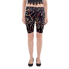 Spiders Background Yoga Cropped Leggings