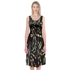 Spiders Background Midi Sleeveless Dress