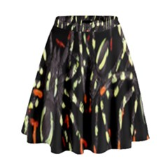 Spiders Background High Waist Skirt
