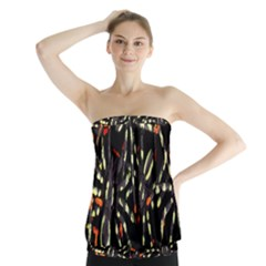 Spiders Background Strapless Top