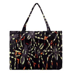 Spiders Background Medium Tote Bag
