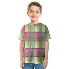 Seamless Pattern Seamless Design Kids  Sport Mesh Tee
