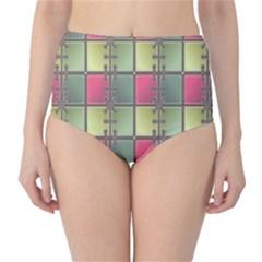 Seamless Pattern Seamless Design High-Waist Bikini Bottoms