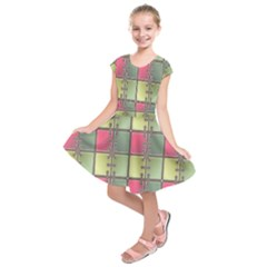Seamless Pattern Seamless Design Kids  Short Sleeve Dress