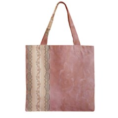 Guestbook Background Victorian Zipper Grocery Tote Bag