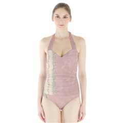 Guestbook Background Victorian Halter Swimsuit