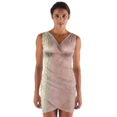 Guestbook Background Victorian Wrap Front Bodycon Dress