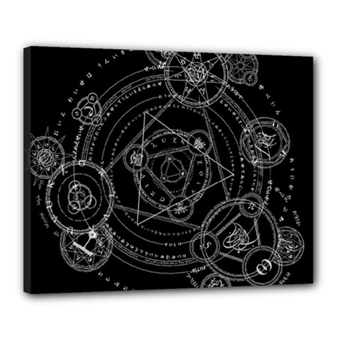 Formal Magic Circle Canvas 20  x 16