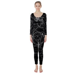 Formal Magic Circle Long Sleeve Catsuit