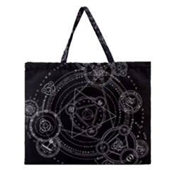 Formal Magic Circle Zipper Large Tote Bag