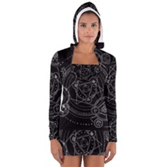 Formal Magic Circle Women s Long Sleeve Hooded T-shirt